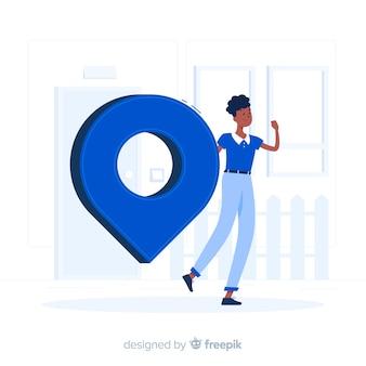 Adressenkonzept illustration