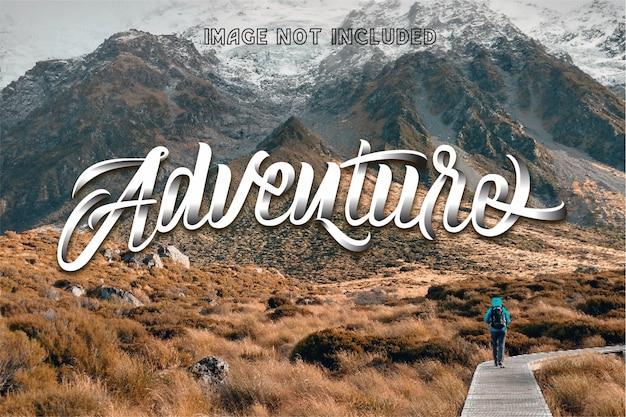 Adventure hand schriftzug handgefertigt