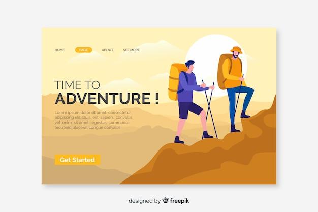Adventure landing page-vorlage