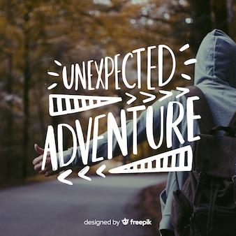 Adventure schriftzug mit foto