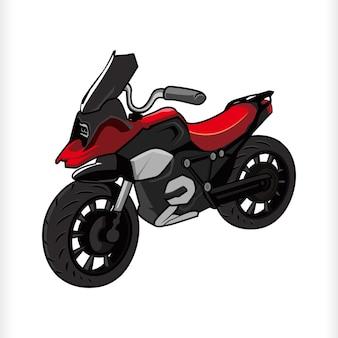 Adventure touring fahrrad motorrad cartoon