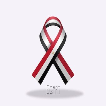 Ägypten-flaggenbandentwurf