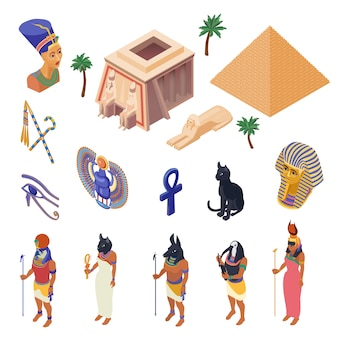 Ägypten isometrische set