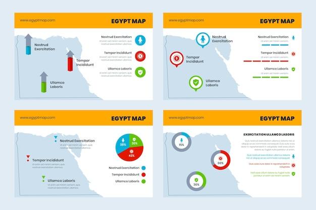Ägypten karte infografik in flachen desgin