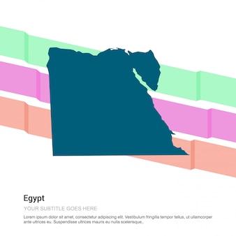 Ägypten-kartenentwurf mit weißem hintergrundvektor