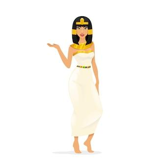 Ägypten königin cleopatra. frauenporträt, attraktive sexy person. vektorillustration