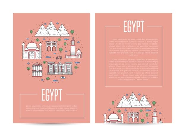 Ägypten land reisen werbeschablone