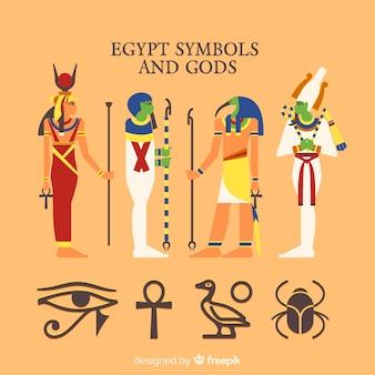 Ägypten symbole und götter sammlung