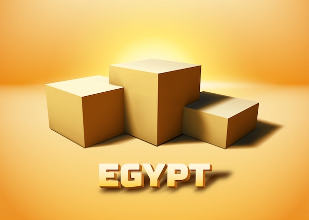 Ägypten würfelt sockel 3d