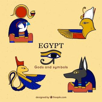 Ägyptische götter sammlung