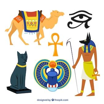 Ägyptische kultur illustrationen