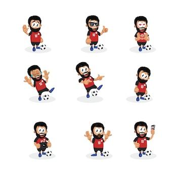 Ägyptischer fußballspieler