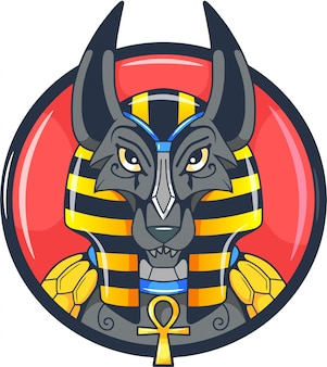 Ägyptischer gott anubis
