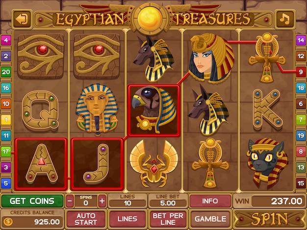 Ägyptisches schlitzspiel