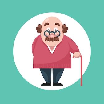 Ältere erwachsene person anfällig für coronavirus