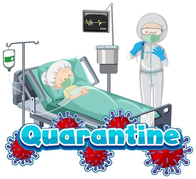 Ältere person im krankenhausbett