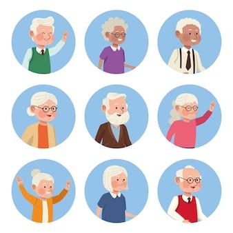 Ältere personen eingestellt