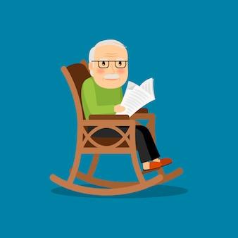 Ältester mann im rollstuhl