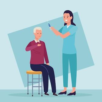Ältester und krankenschwester