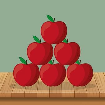 Äpfel gesundes essen icons bild