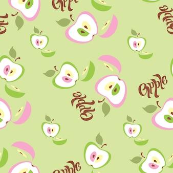 Äpfel. nahtloses muster