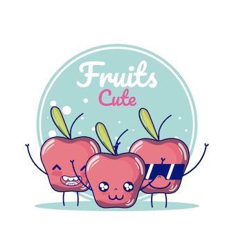 Äpfel süße früchte cartoons