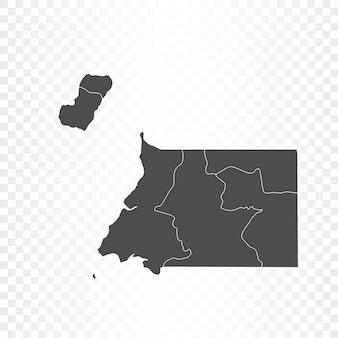 Äquatorialguinea-karte isoliert auf transparent