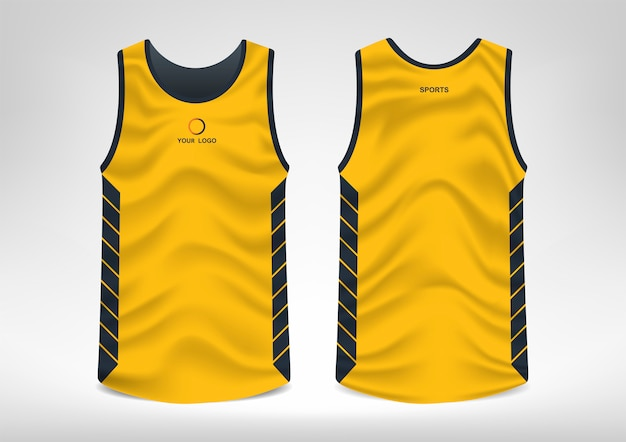 Ärmelloses sport-t-shirt-design