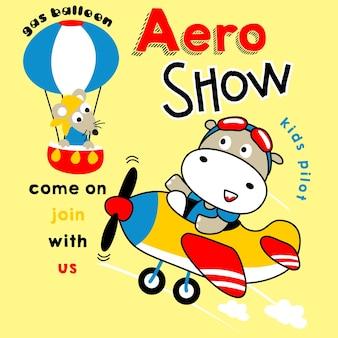 Aero-show-cartoon
