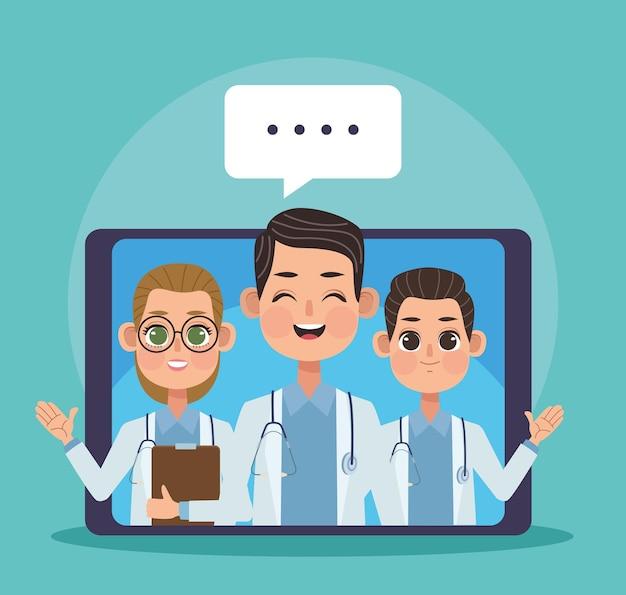 Ärzte in der tablet-telemedizin