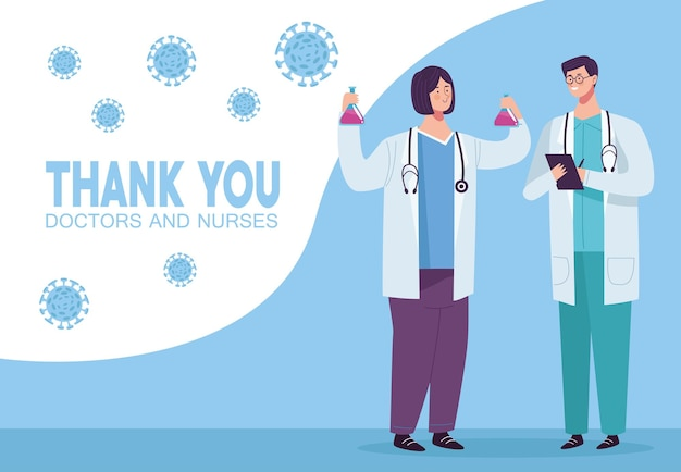 Ärzte koppeln mit partikeln covid19 illustration