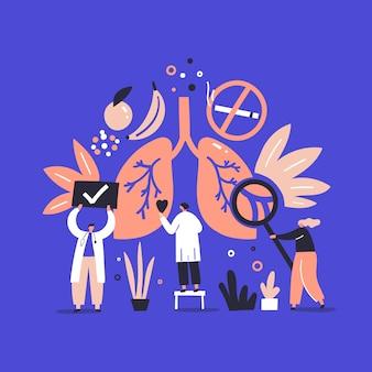 Ärzte mit lunge
