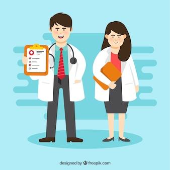 Ärzte mit zwischenablagen