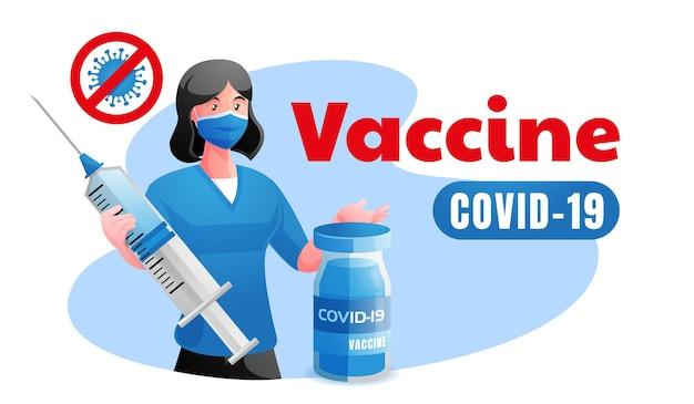 Ärzte schützen mit dem impfstoff covid 19