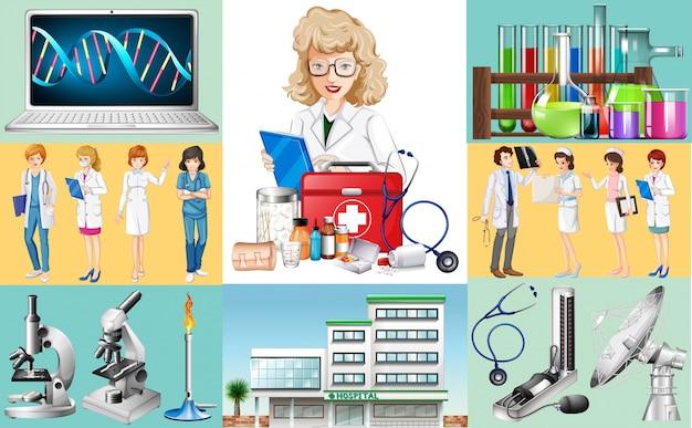 Ärzte und krankenschwestern arbeiten im krankenhaus