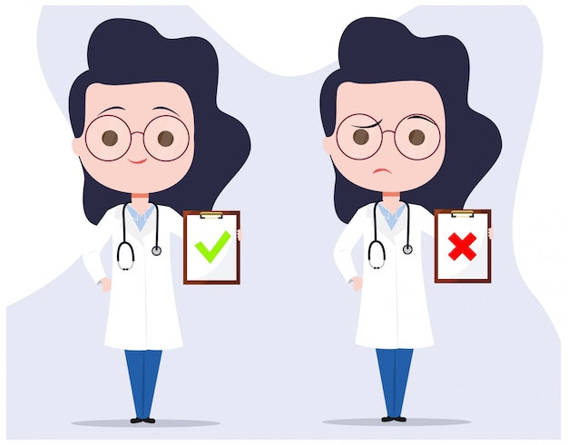 Ärztin character mit einer diagnose