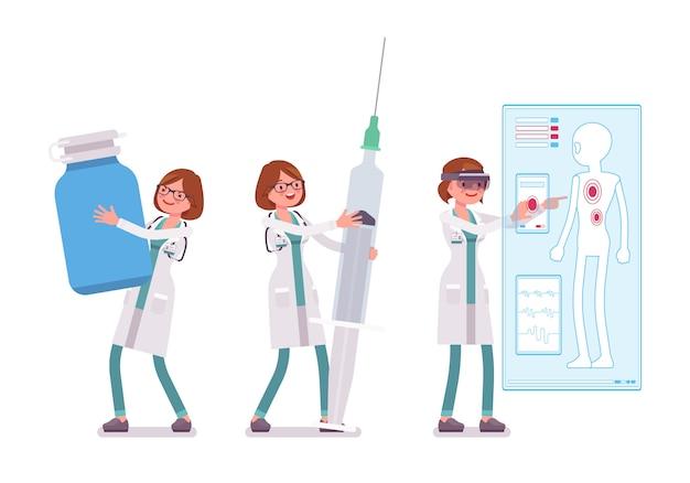 Ärztin und ausrüstung