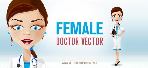 Ärztin vektor-zeichen