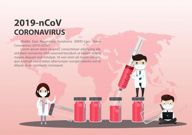 Ärztliche beratung und unterstützung, illustration des medizinischen dienstes, coronavirus
