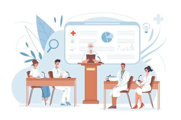 Ärztliche konferenz schulung des klinikforschungspersonals