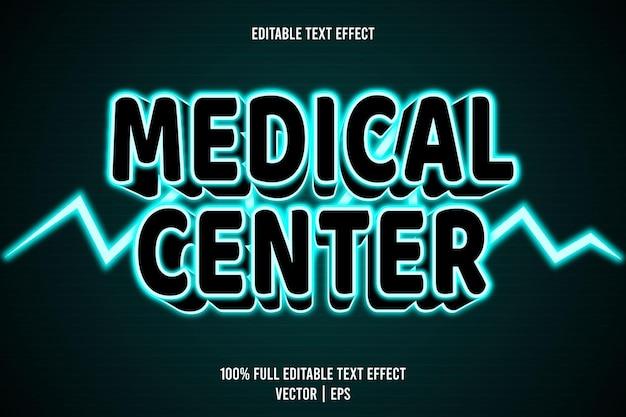 Ärztliche pflege bearbeitbarer texteffekt 3-dimensionaler präge-neon-stil