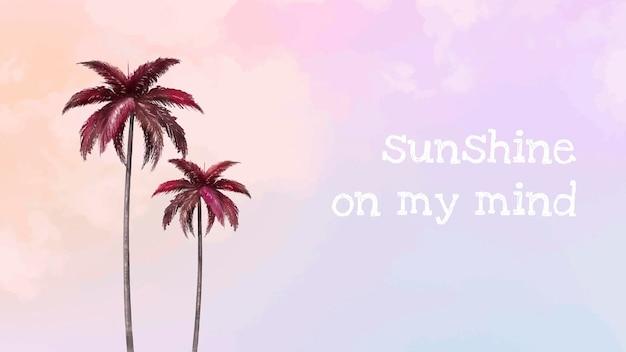 Ästhetische palmen-vektorvorlage für blog-banner