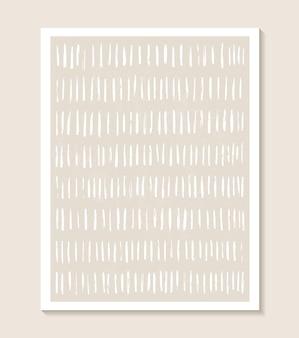 Ästhetische zeitgenössische vorlage mit abstrakten formen und linie in nackten farben