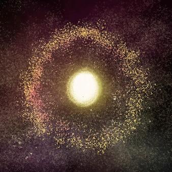 Ästhetischer galaxieelementvektor im schwarzen hintergrund