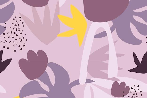 Ästhetischer hintergrund-designvektor des purpurroten nahtlosen musters