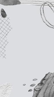 Ästhetischer rahmen für mobile tapetenhintergrundvektor, memphis-design