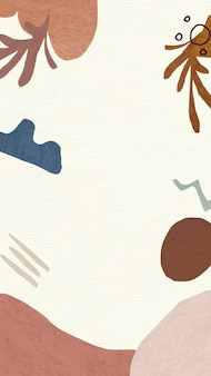 Ästhetischer rahmen mobiler tapetenhintergrundvektor, abstraktes design