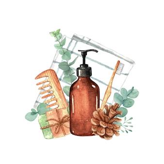 Ästhetisches badprodukt ohne abfall