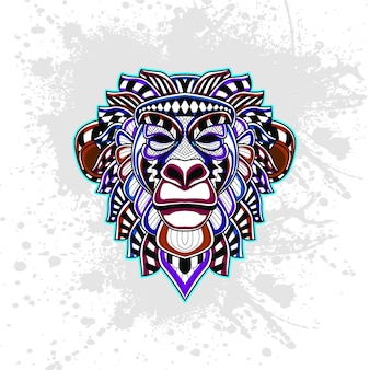 Affe aus abstrakten dekorativen muster