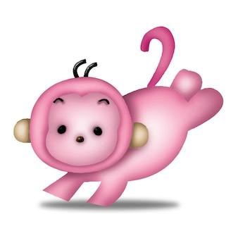 Affe cartoon süße tiere wildes haustier barbie charakter puppe süß modell emotion art